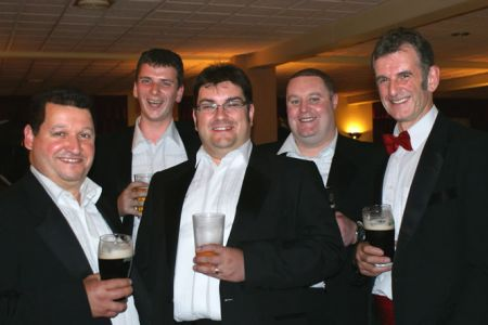 36.Rob, Matt, Colin, Howie and Wyn enjoying a pint after the Grassington Festival Concert - 3 July
