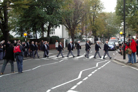 16.On the famous crossing at Abbey Road