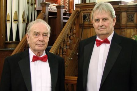 01.Arthur Williams and John Kelsall join the Choir as full members at the concert in the Hamilton Street Methodist Church, Hoole, Chester - 24th January