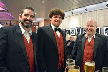 Darren, Keith and Daryl enjoying a pint after the Summer Concert in the New Vic.