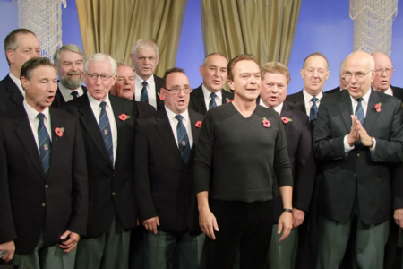 David Cassidy joins the choir for an impromptu sing along after completing his item on Good Morning