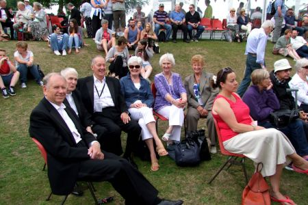 52.Cyril, Malcolm, Berwyn and wives enjoying the  atmosphere on the Field