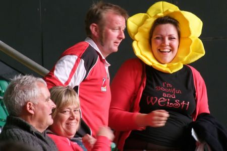 Leigh gets in the mood for the Wales v Barbarians match - 4th June