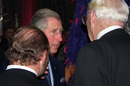 Charles - Prince of Wales - chatting to Evan Williams