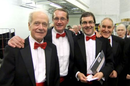 70.Roger, Dylan, Jez and Dave backstage at the Voices of the Valley Winter Concert in the Floral Pavilion New Brighton - 4th December