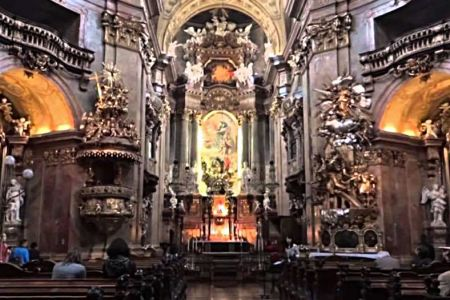 Inside the Abbey Church at Melk