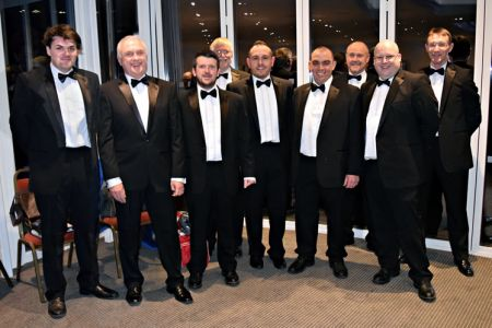 91.New full members joining us at the Ternhill Hall Concert. Left to right; Keith Williams, Gordon Urquhart, Aled Jones, David Williams, Lee Baines, Andrew Walker, Colin Jones, Daryl Stephenson and Richard Jones.