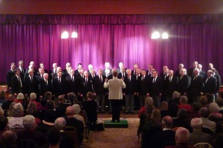 54.The Choir's Charity Concert in the British Legion Club, Llay on the 13th of November The Choir supply the venue, performance and distribute the tickets to local charities who apply for them. The charities sell the tickets and keep the entire proceeds o