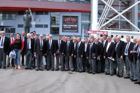 The Choir at the Millennium Stadium in Cardiff for the Wales v Barbarians match on the 4th June.