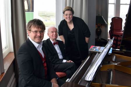 The music team, Jason, Owen and Leigh at the Headland Hotel Newquay - 29th April.