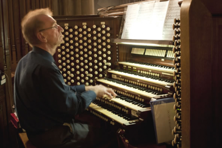 Owen Roberts at the St Patrick's Cathedral Organ Console - 24th August