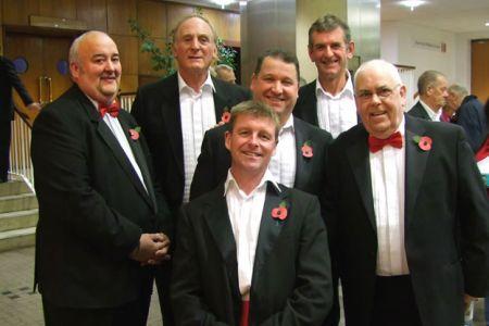 63.Paul, Geoff, Mark, Rob, Wyn and John in the foyer of the William Aston Hall - 13th November