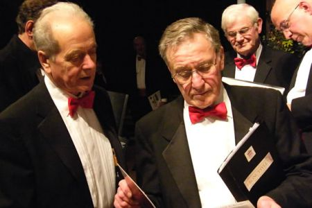 69.Roger and Merfyn make last minute checks on the music