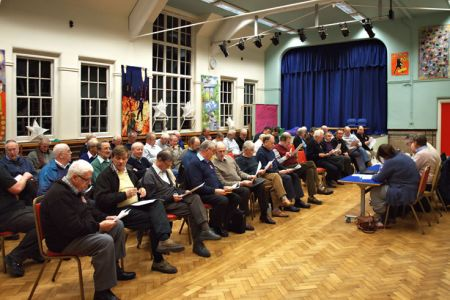 01.The Choir's AGM was held at Acrefair School on the 23rd of January