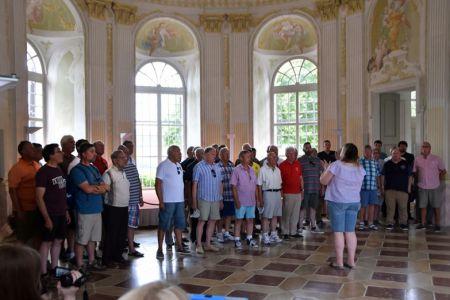 Singing in the pavilion at Merk Monastery