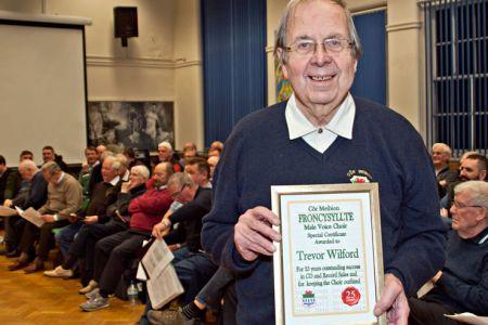 03.Trevor Wilford retires as Choir Wardrobe Master and CD Salesman