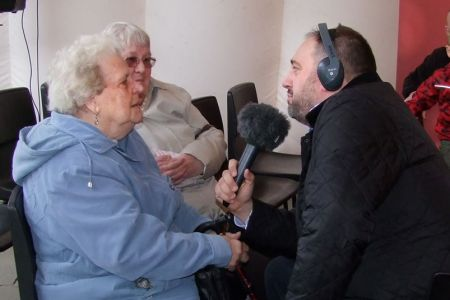 34.Wynne Evans interviews Audrey Owen, Chairman of the Fron Ladies Committee