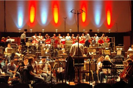 47.Rehearsal with the BBC Concert Orchestra at Watford Coliseum for Radio 2 Friday Night Is Music Night on the 12th of October.