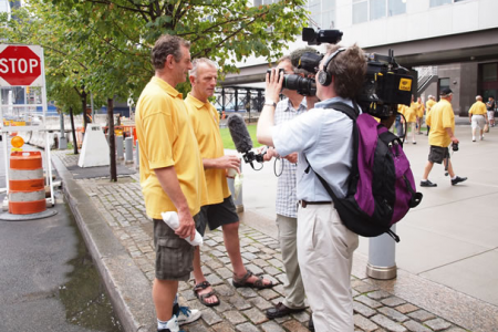 Wynn Morris and Tudor Evans interviewed at Ground Zero - 25th August