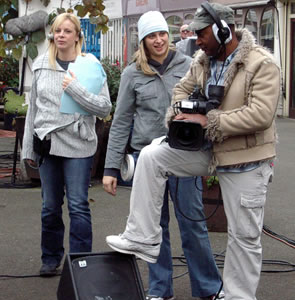 10.The film crew at work