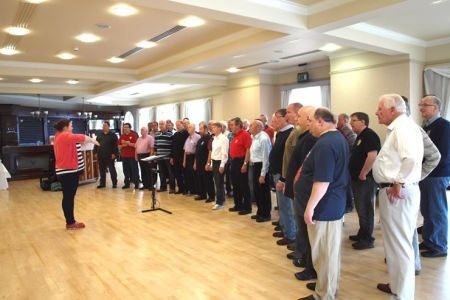 61.Practice session for the Isle of Man Festival of Choirs Male Voice Choir Competition - 19th October
