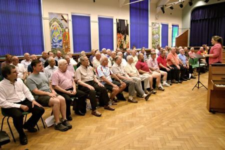 49.12 Members of the Wrexham Charity Choir join us as probationary members