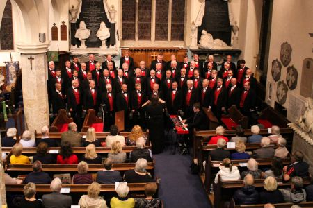 15A. The choir perform at St Mary's Chirk in a sold out charity concert in aid of NSPCC 26.09.19