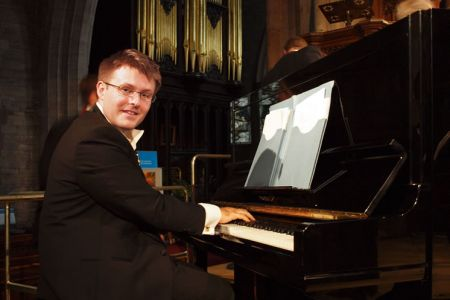 37.Jason at the piano in St Laurence Church Ludlow