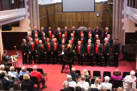 3a. The choir perform at Kings hall Edinburgh