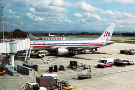 Flight AA211 Manchester to JFK New York - 22nd August