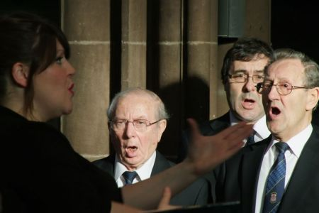 66.The Three Second Tenors in Manchester Cathedral, Ken, Jeremy and Gren - 1st of December
