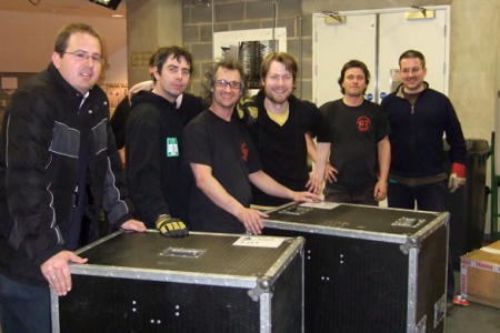 The Tour Crew packing it all away ready for the next show