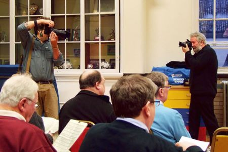 18.Jon Haddy taking the photo of Jad Davenport when Jad visited the rehearsal for the Smithsonian Magazine - 19th April
