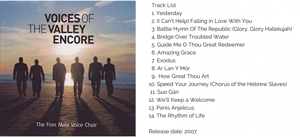 VOICES OF THE VALLEY - ENCORE