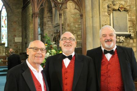 49a.Ron, Keith and Paul arrive ready for the Wedding in Pontesbury