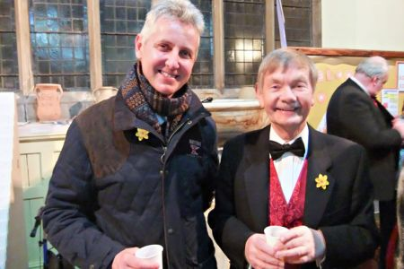 13.St Davids Day Concert, Oswestry. Clive Knowles (Vice President) with Allan Smith
