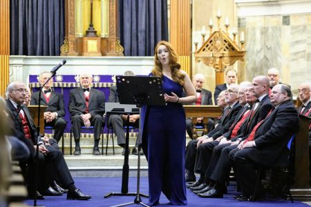 07F. The choirs guest soloist Holly Teague performs at St Alkmunds church 23/03/19 Credit David Hewitt