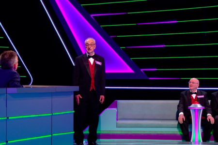 18e. Rod March takes his turn on Tenable with host Warwick Davis.