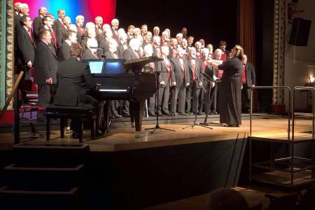 17a. The choir performing at the Stiwt Theatre in rhos for their annual concert 23.11.19