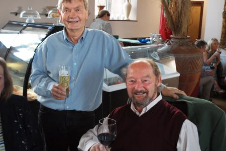 63.Allan and Geoff enjoying a pre-dinner drink - 15th July