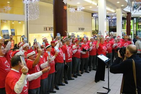 65.Promotion for Voices of the Valley - Live and Concert for Heart Research UK  Pavilions Shopping Centre, Birmingham - 6th December