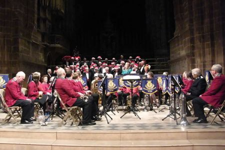 67.Charity Christmas Carol Concert in Chester Cathedral in aid of Nightingale House Hospice  together with Aled Wyn Davies and the Wrexham Salvation Army Brass Band