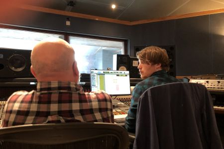 03C. Roger and Alex put together the recording of a backing track for rock Violinist Daisy Jopling. 09/02/19