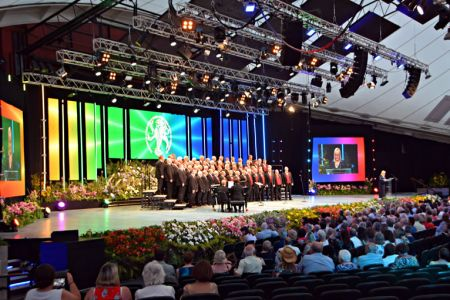 40.Onstage for the Male Voice Choir Competition