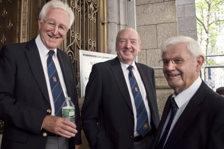 Den, Glyn and Rolly line up for the St Patrick's Cathedral Concert - 24th August