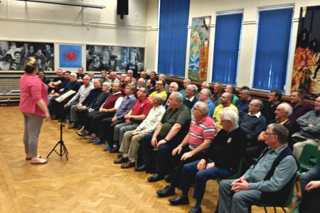 37.Second joint rehearsal with the Wrexham Charity Choir for their Concert on the 27th of May