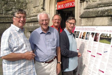 31.Sam, Den, Paul and Dave at the Chichester Festivities Box Office