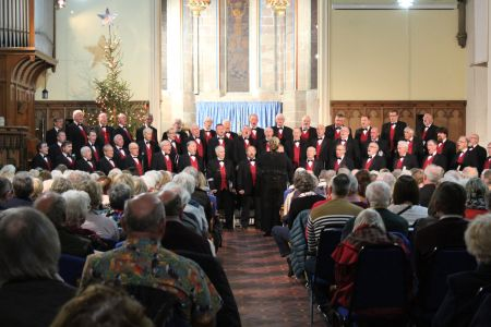 80d. On stage in Trinity church Oswestry