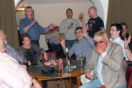 24.Members and guests break into song. The evening raised £426 for Nightingale House Hospice