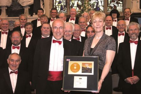 21.The Choir proudly displays their latest Gold Disc for Voices of the Valley - Home